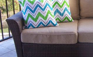 create designer accent pillows in a snap with paint a pillow, crafts, how to, outdoor living, painting