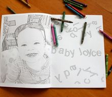 how to make a personalized coloring book, how to