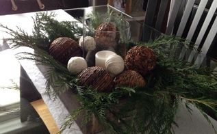 dining room centerpiece idea for the holiday using candles, crafts, home decor