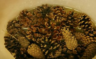 how to bleach pine cones, christmas decorations, crafts, how to, seasonal holiday decor