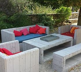 How To Build Pallet Furniture For Patio, Diy, Outdoor Furniture, Painted  Furniture, ...
