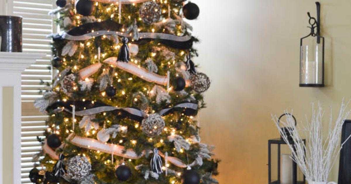 black and white christmas tree decorating ideas - Black And White Christmas Tree