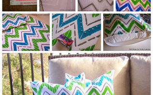 create designer accent pillows in a snap with paint a pillow, crafts, how to
