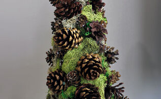 how to make a pinecone decorative tree, christmas decorations, crafts, seasonal holiday decor