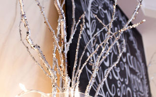 how to make sparkling silver branches, christmas decorations, crafts, seasonal holiday decor