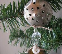 repurposed salt lid star christmas ornament, christmas decorations, repurposing upcycling, seasonal holiday decor
