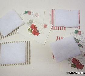 Handmade French Christmas Postcard Ornaments | Hometalk