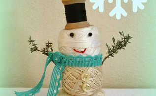 How to make an industrial cable spool snowman hometalk - How to make a snowman out of wood planks ...