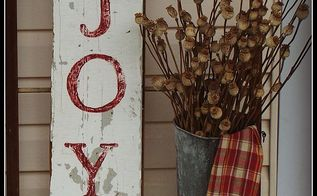 how to create a rustic christmas joy sign, crafts, repurposing upcycling, seasonal holiday decor