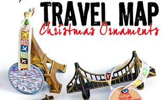 how to make travel map ornaments, christmas decorations, crafts, seasonal holiday decor