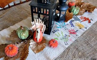 diy thanksgiving table runner, crafts, seasonal holiday decor, thanksgiving decorations