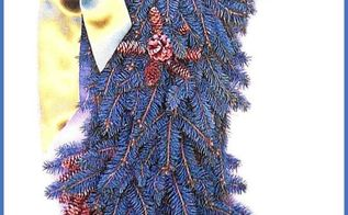 how to make blue spruce stocking shaped door wreath, crafts, seasonal holiday decor, wreaths