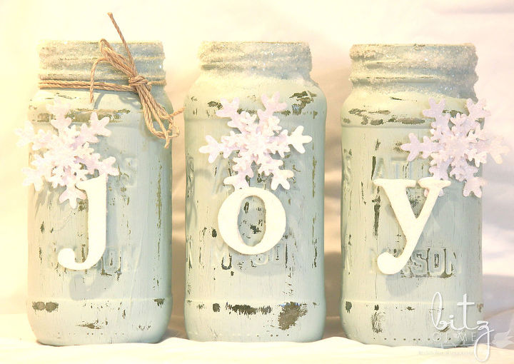 How To Make Painted Snowy Mason Jars Hometalk