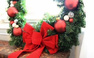 diy holiday wreath under 20 dollars, christmas decorations, crafts, seasonal holiday decor, wreaths