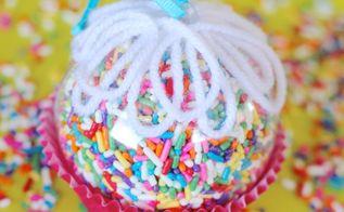 cupcake sprinkles ornament, christmas decorations, crafts, seasonal holiday decor