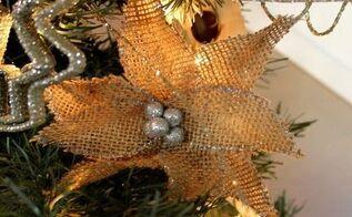 burlap pointsettia flowers, christmas decorations, crafts, seasonal holiday decor