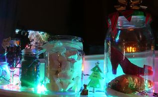 how to make a christmas jar snowglobe without water, christmas decorations, crafts, seasonal holiday decor
