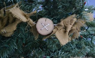 how to make burlap and button garland, christmas decorations, crafts, seasonal holiday decor