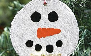 how to make a rustic snowman ornament, christmas decorations, crafts, seasonal holiday decor