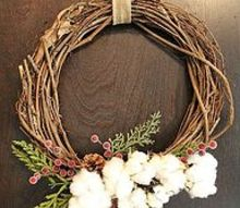 easy cotton wreaths, crafts, wreaths