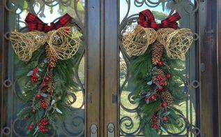 a festive christmas door swag, christmas decorations, doors, how to, seasonal holiday decor