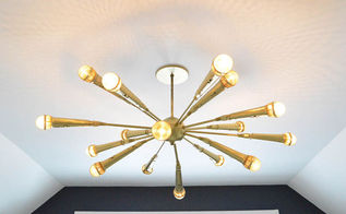 the microphone chandelier, diy, electrical, lighting, repurposing upcycling, The Golden Microphone Chandelier