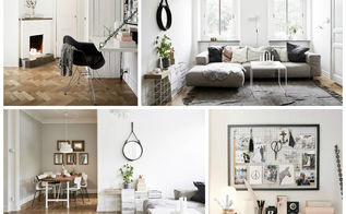 scandinavian apartment with a romantic glare, home decor