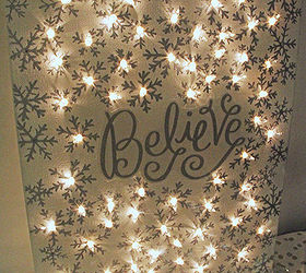Exceptional How To Make A Lighted Christmas Canvas, Christmas Decorations, Crafts,  Fireplaces Mantels,
