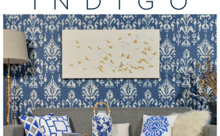 stencil color obsession indigo, bedroom ideas, home decor, living room ideas, paint colors, painting, wall decor