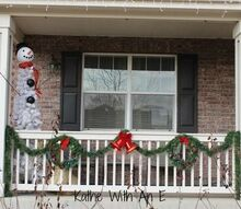 front porch christmas decor and how to make a snowman tree, christmas decorations, home decor, how to