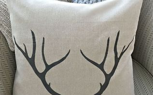 how to stencil an antler pillow case, christmas decorations, crafts, how to, seasonal holiday decor