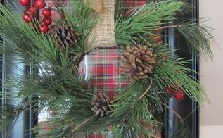 how to make a christmas frame wreath, christmas decorations, crafts, seasonal holiday decor, wreaths