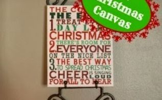 how to make your own christmas saying canvas art, christmas decorations, crafts, seasonal holiday decor