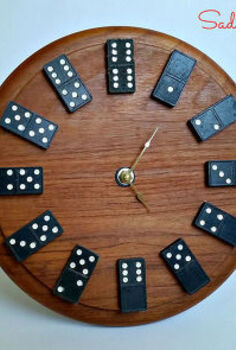 how to make a repurposed domino clock, crafts, repurposing upcycling, woodworking projects