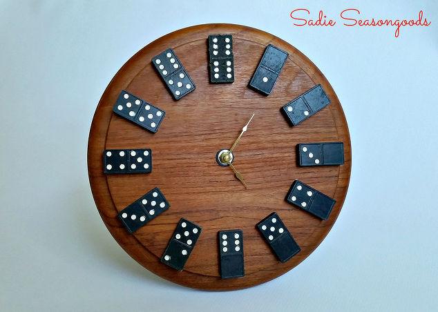 How to make a repurposed domino clock Hometalk