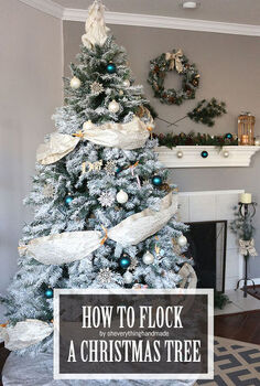 how to flock a christmas tree, christmas decorations, how to