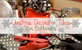 christmas decoration ideas for bathrooms, bathroom ideas, christmas decorations, small bathroom ideas