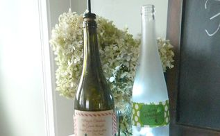 homemade gifts using labels and repurposed wine bottles, christmas decorations, crafts, seasonal holiday decor