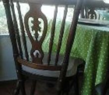 q paint ideas for wooden chairs, paint colors, painted furniture, Back