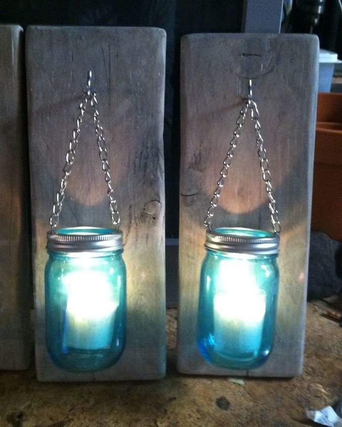 How To Make A Mason Jar And Pallet Wood Candle Holder Home Decor Mason