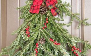 christmas door swag, christmas decorations, doors, seasonal holiday decor