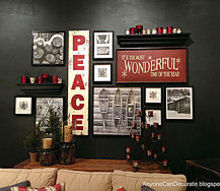 the perfect winter holiday photo wall, home decor, wall decor