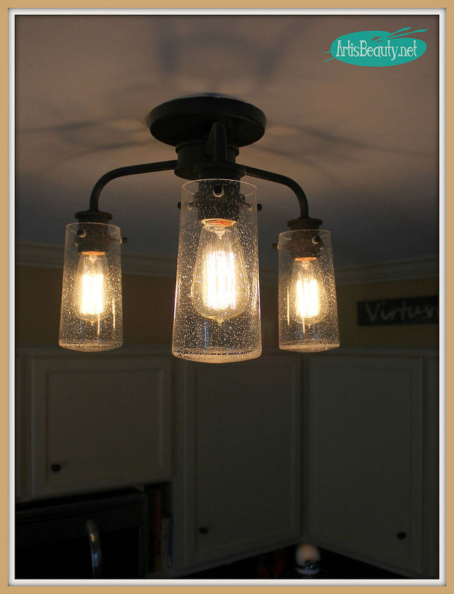 Vintage Style Kitchen Lighting Update Buh Bye Boob Light