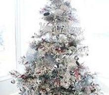 red white silver christmas tree, christmas decorations, seasonal holiday decor