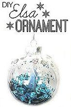 diy elsa ornament, christmas decorations, crafts, seasonal holiday decor