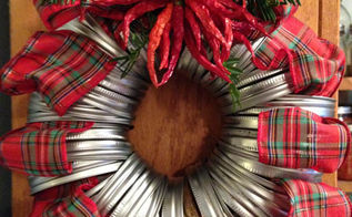 mason jar band wreath, christmas decorations, crafts, mason jars, seasonal holiday decor, wreaths