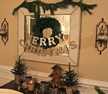 merry christmas glitter garland, christmas decorations, crafts, decoupage, seasonal holiday decor
