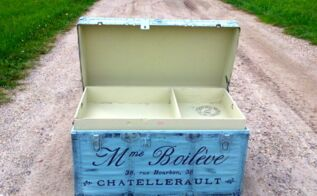 trunk drunk french trunk recreation, diy, home decor, painting, repurposing upcycling, storage ideas, BAM
