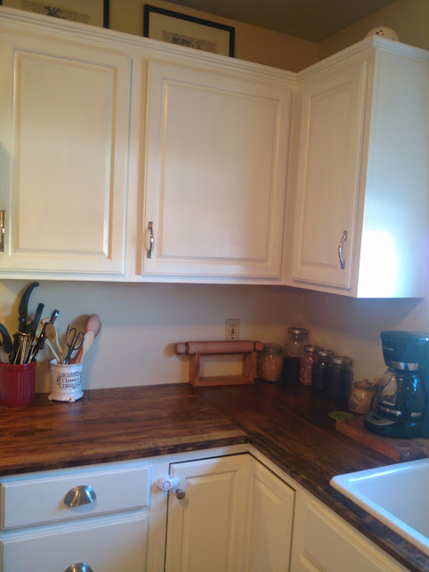 Add moulding to existing kitchen cabinets hometalk for Adding new cabinets to existing kitchen