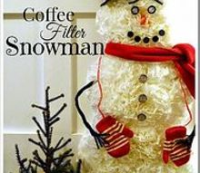 how to make a snowman using coffee filters, christmas decorations, crafts, repurposing upcycling, seasonal holiday decor